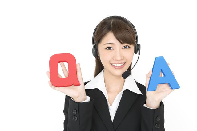 よくある質問のイメージの女性